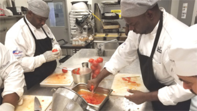 DC Central Kitchen Go-Team participants take part in the Culinary Job Training program