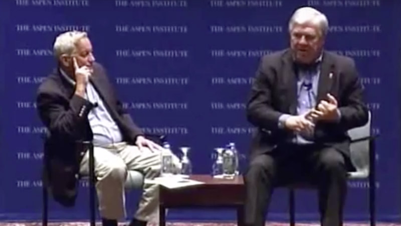 Gov. Haley Barbour with Walter Isaacson