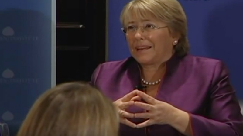 A Conversation With Michelle Bachelet, President of Chile
