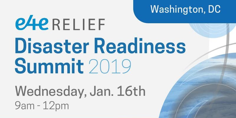 E4E Relief Disaster Readiness Summit