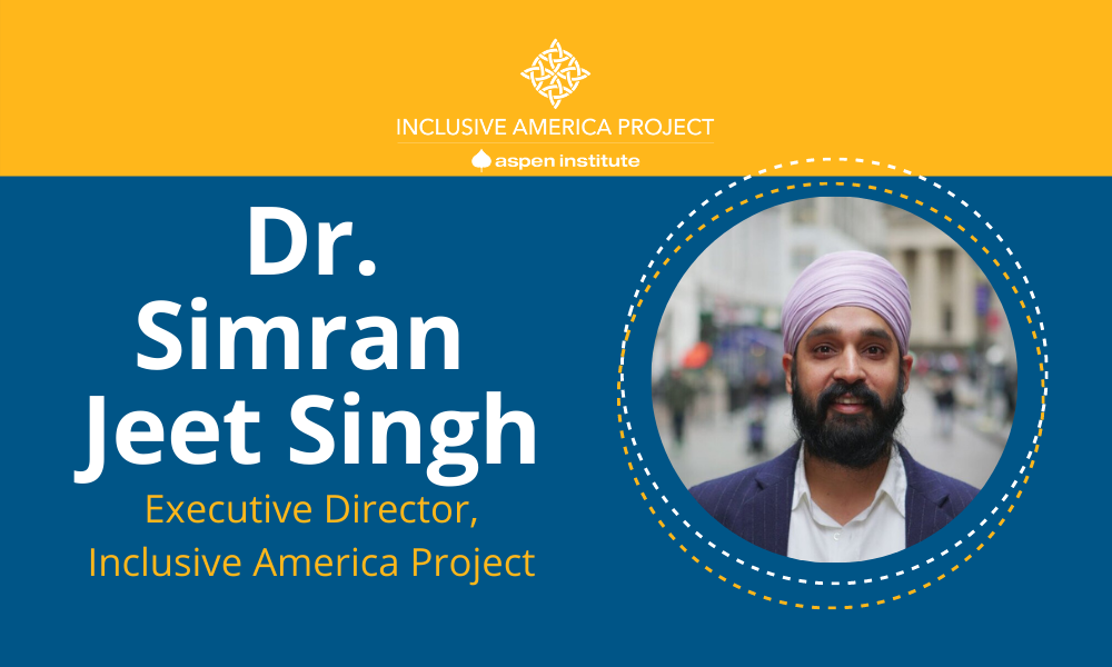 Simran Jeet Singh Named Director of Inclusive America Project