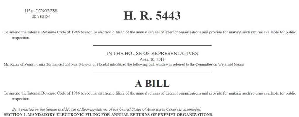House Passes E-Filing Bill!