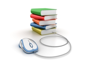 Stack of Books with Computer Mouse