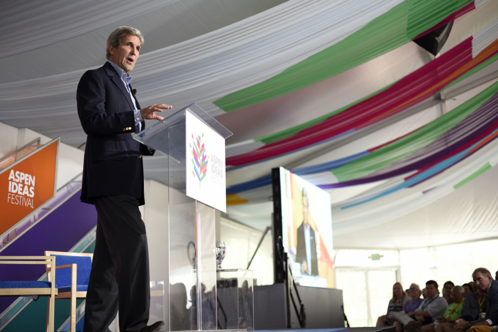 U.S. Secretary of State John Kerry speaks at the 2016 Aspen Ideas Festival (Photo Credit: Daniel Bayer/The Aspen Institute)
