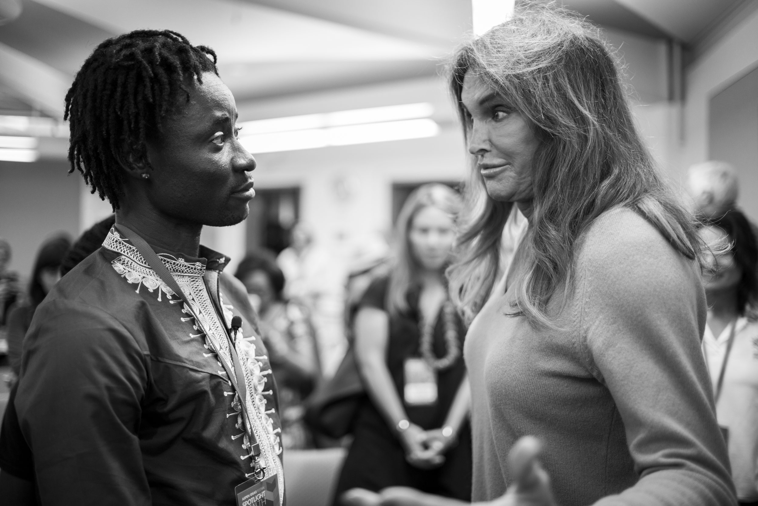 Bisi Alibi and Caitlyn Jenner at the 2016 Aspen Ideas Festival. Photo by Dan Bayer/Aspen Institute.