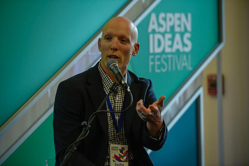 Sasha Dichter, chief innovation officer for Acumen, at the 2016 Aspen Ideas Festival (Photo Credit: Riccardo Savi/The Aspen Institute)