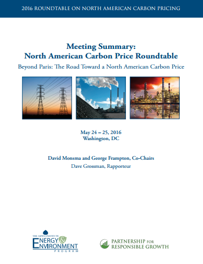 North American Carbon Price Roundtable