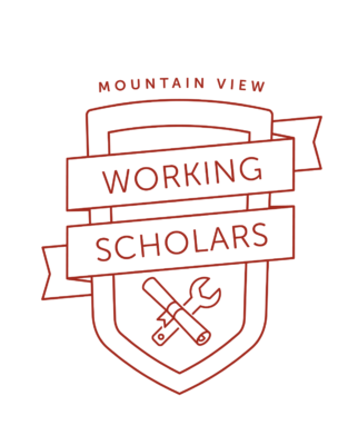 Logo of the Mountain View Working Scholars Program.