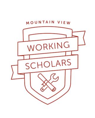 Logo of the Mountain View Working Scholars Program.