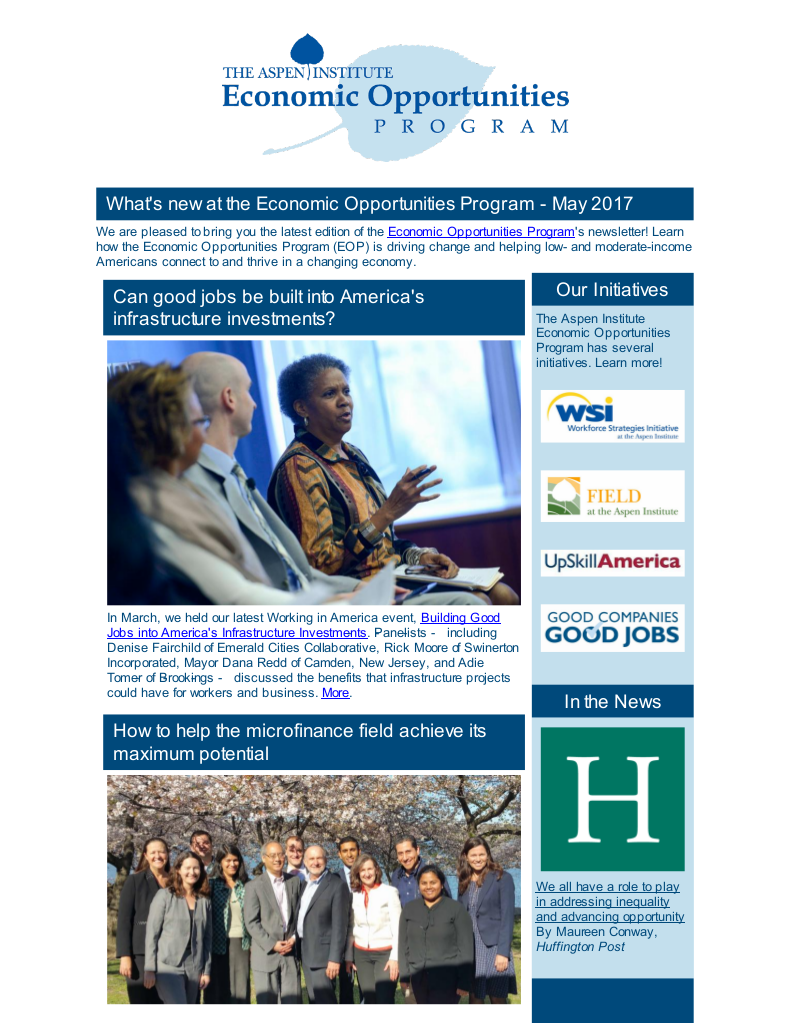 EOP Newsletter - May 2017