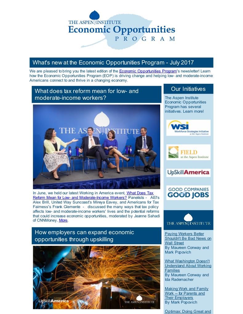 EOP Newsletter - July 2017