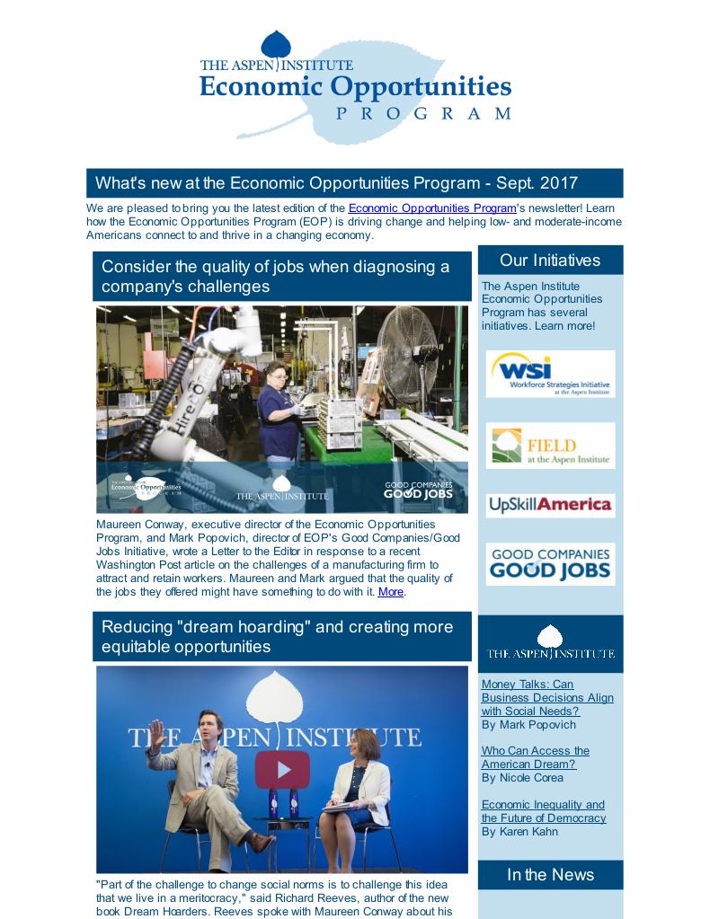 EOP Newsletter - September 2017