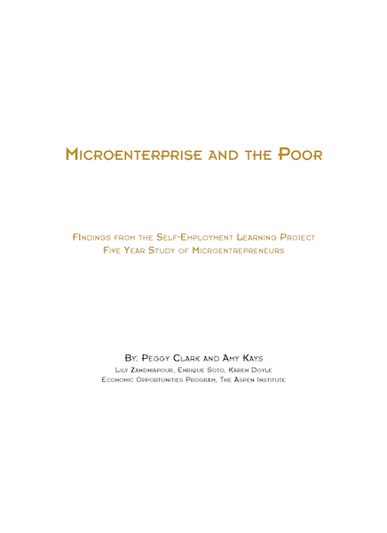 Microenterprise and the Poor