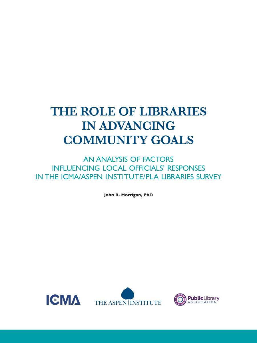 The Role of Libraries in Advancing Community Goals