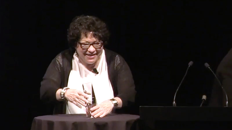 Sonia Sotomayor - 2016 Preston Robert Tisch Award Recipient
