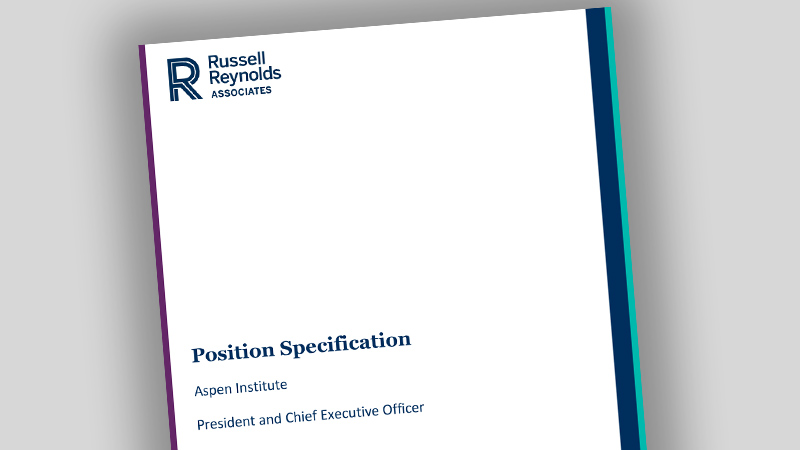 Position Description for Aspen Institute CEO - thumbnail