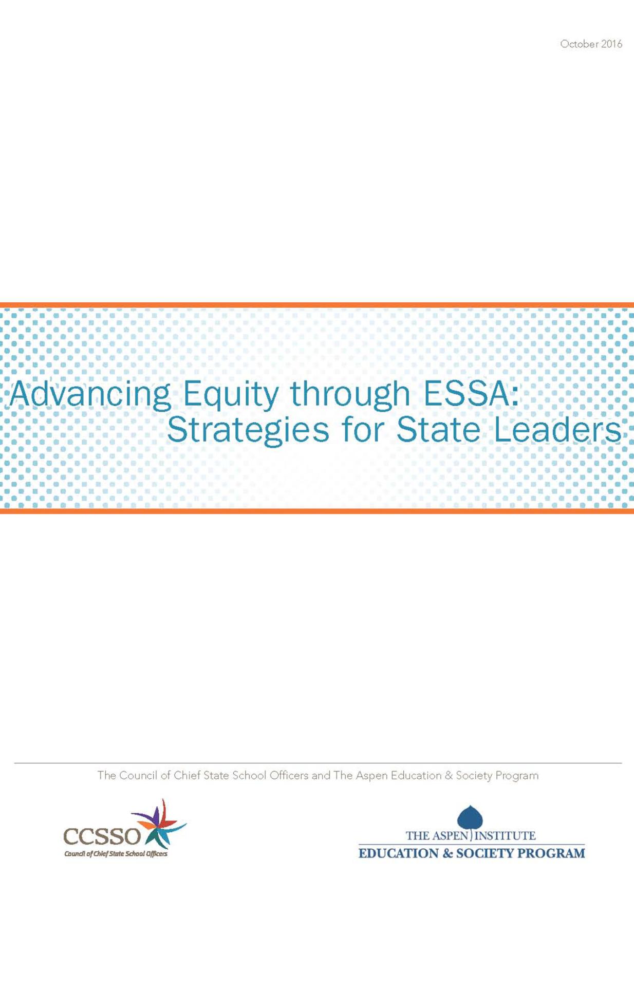 Advancing Equity through ESSA