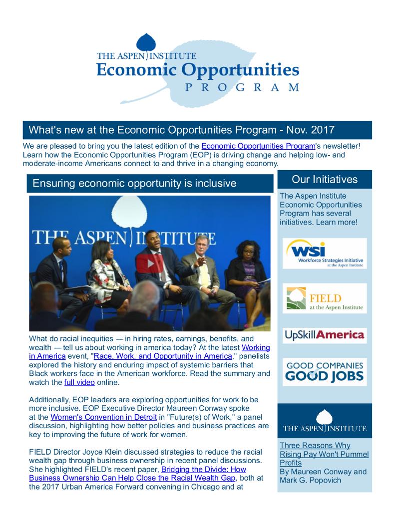 EOP Newsletter - November 2017
