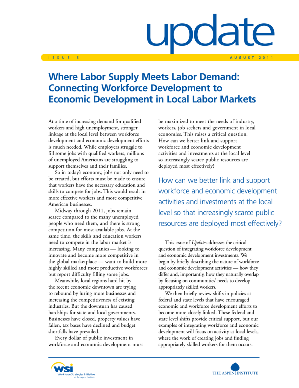 Where Labor Supply Meets Labor Demand