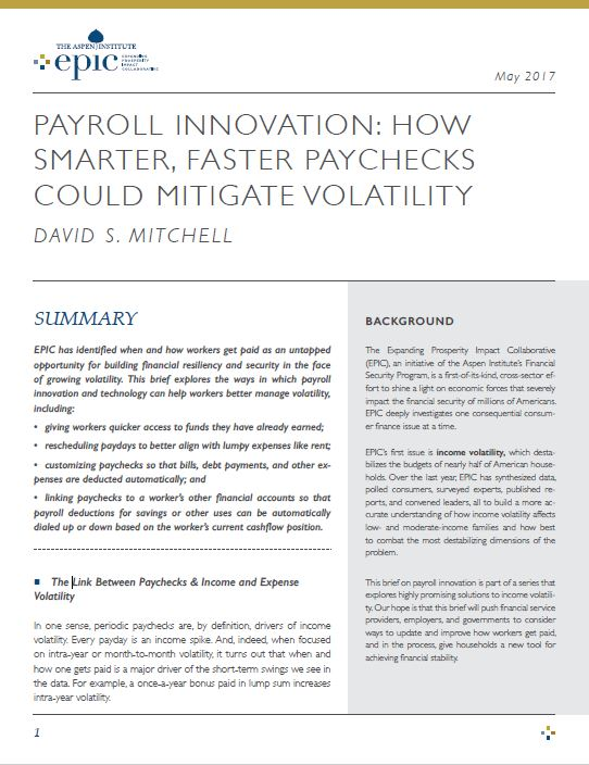 Payroll Innovation How Smarter Faster Paychecks Could Mitigate