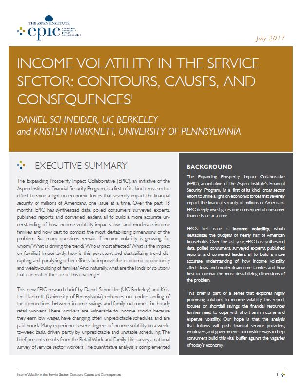 Income Volatility in the Service Sector