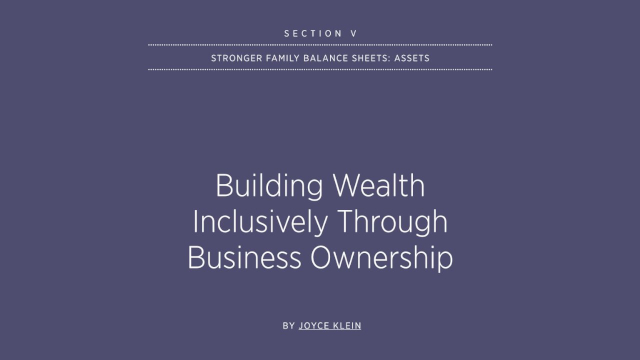Building Wealth Inclusively Through Business Ownership