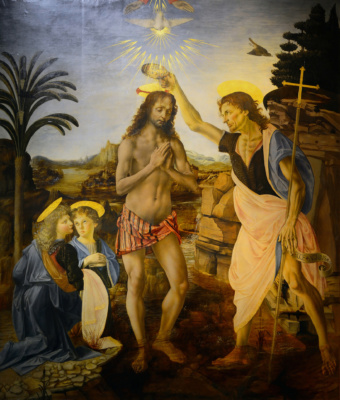 More details The Baptism of Christ (Verrocchio & Leonardo)