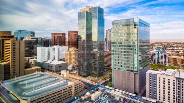 Photo of the skyline in Phoenix, Arizona