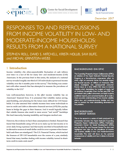 Responses to and Repercussions from Income Volatility in Low- and Moderate-Income Households
