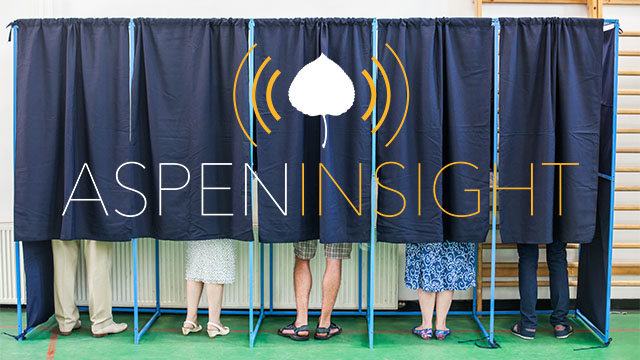 voting booths with aspen insight logo