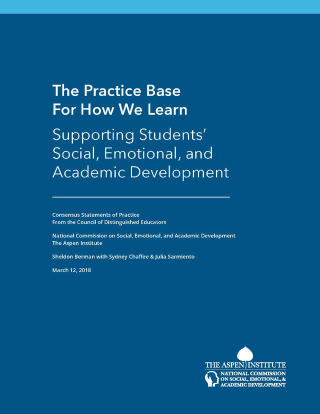 Student Social Emotional And Academic >> The Practice Base For How We Learn Supporting Students Social