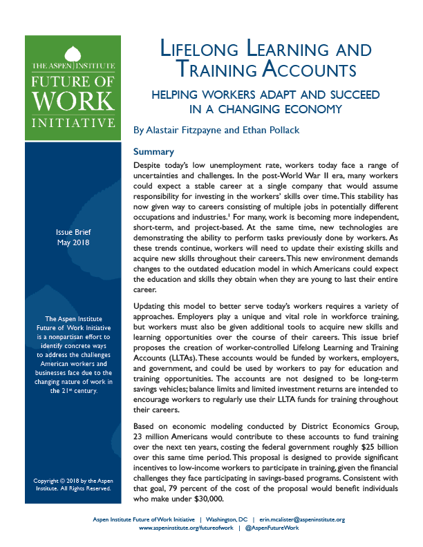 lifelong learning and training accounts helping workers adapt and succeed in a changing economy