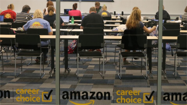 Amazon Career Choice classroom