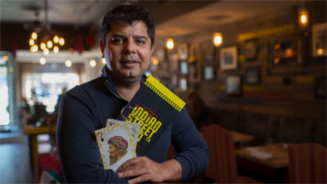 Hemant Bhagwani, owner of The Indian Street Food Co. in Toronto, Ontario.