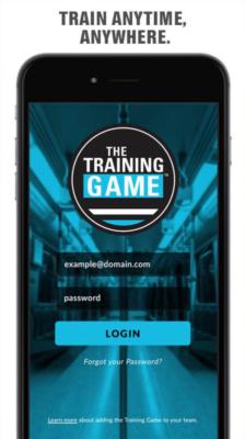 "Screenshot of ""The Training Game"""