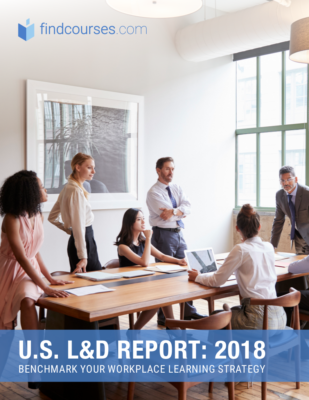 Report cover for U.S. L&D Report: 2018: Benchmark Your Workplace Learning Strategy