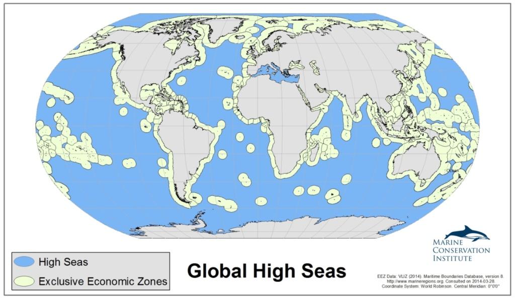 global high seas map