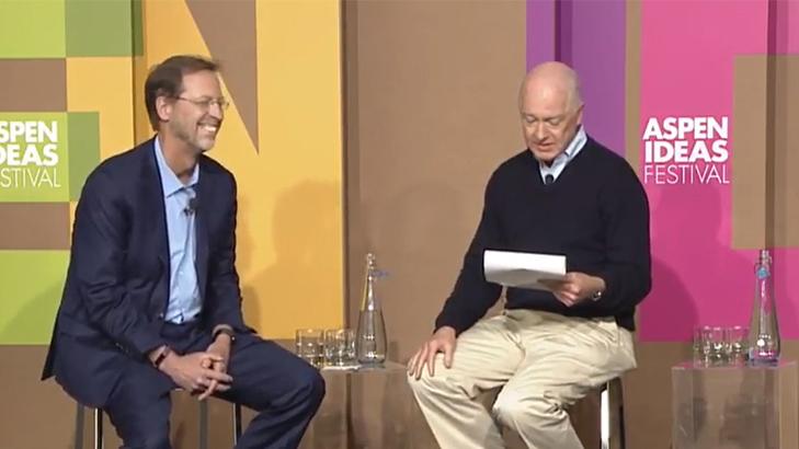 David Bradley Interviews Aspen Institute President & CEO Dan Porterfield