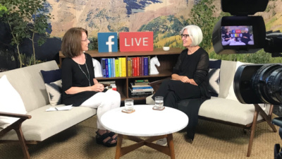 Maureen Conway and Eileen Fisher at Ideas Festival