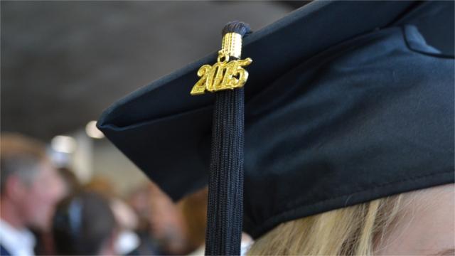 Graduation cap with 2015 tassel