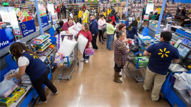 Interior of a Walmart store