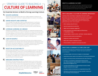 """Screenshot of """"Strategic Guide to Building a Culture of Learning"""""""