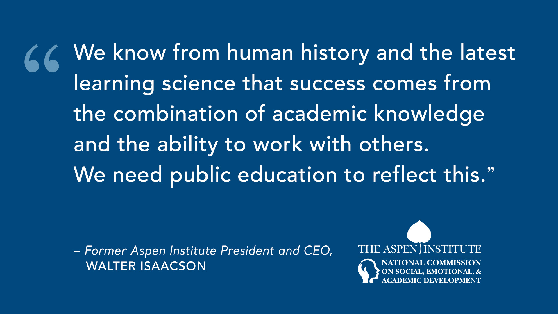 National Commission on Social, Emotional, and Academic Development - The Aspen Institute