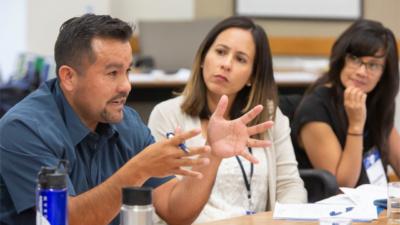 Job Quality Fellows Jose Corona, Liddy Romero, and Emylene Aspilla at our August 2018 JQF convening