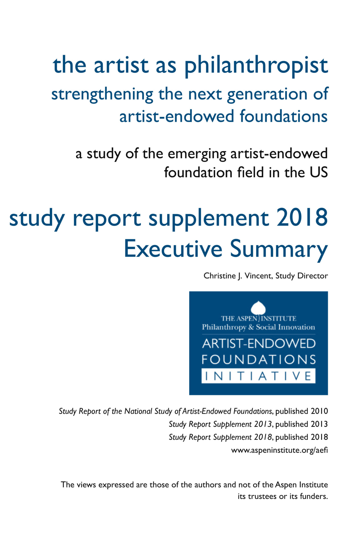 Study Report Supplement 2018 Executive Summary