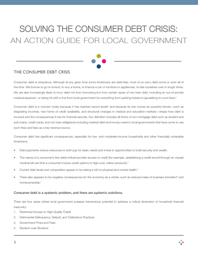 An Action Guide for Local Government
