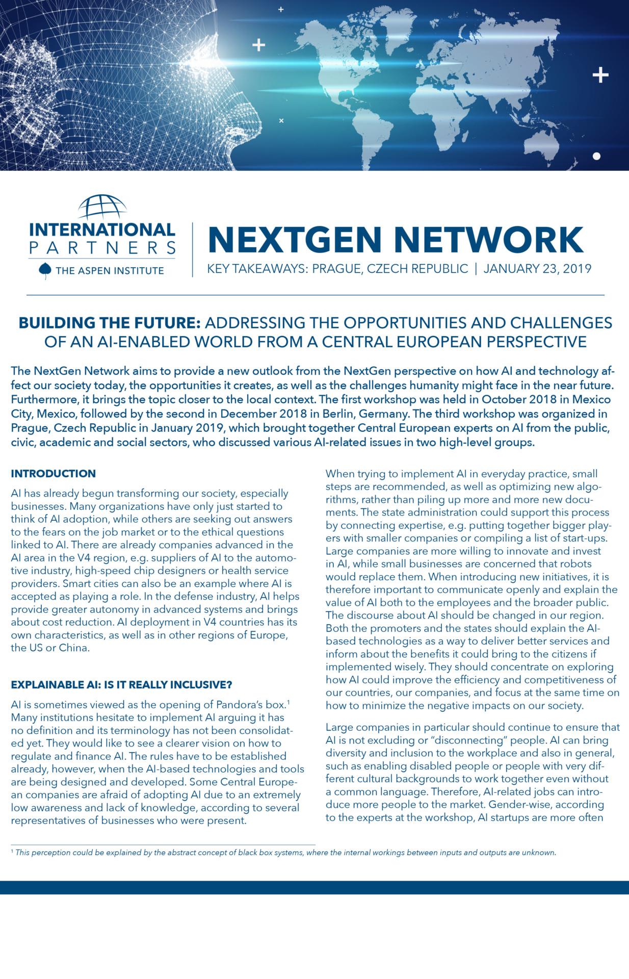NextGen Network: Prague, Czech Republic
