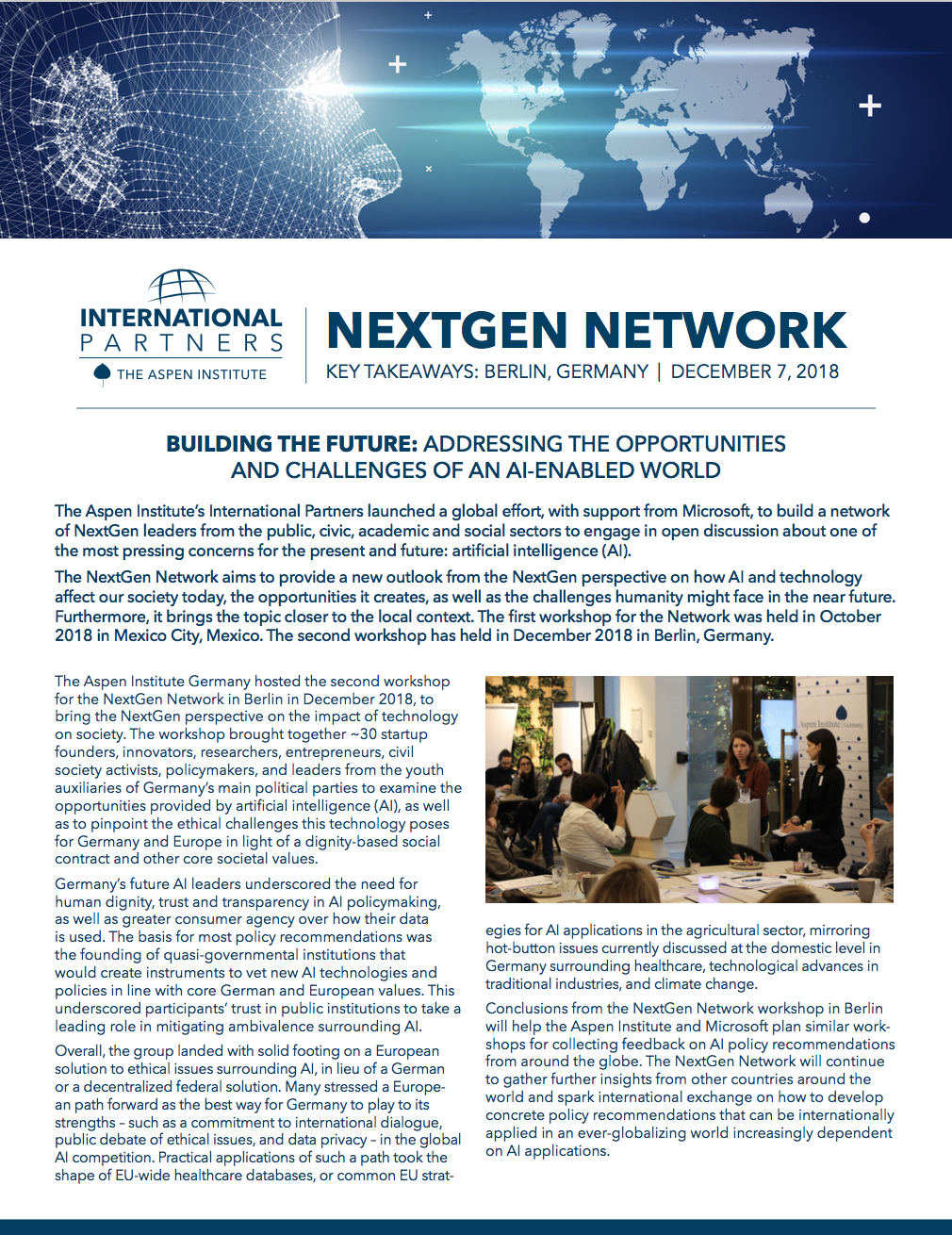 NextGen Network: Berlin, Germany
