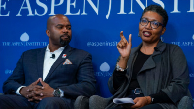 "Karla Bruce and Harold Pettigrew speak at ""Building a Democratic Economy: How Do We Create Prosperity for All?"" (November 13, 2019)"