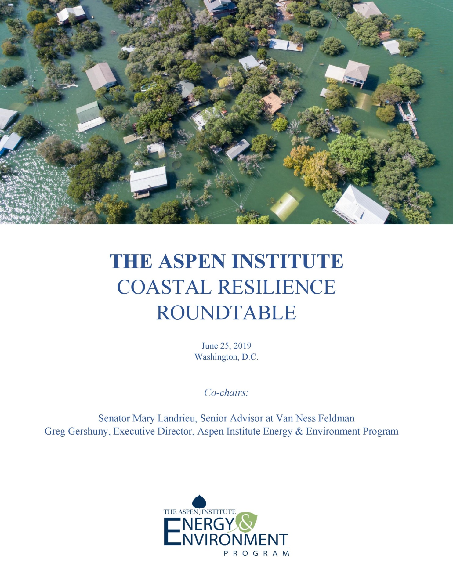 Coastal Resilience Roundtable: A Summary Report